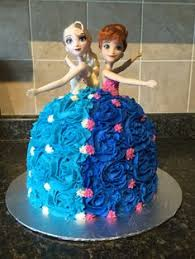 frozen cake anna elsa girls 3rd 4th birthday