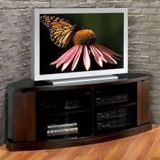 Black Dvd Cabinet Enamour Corner Media Cabinet Style Modern Feature Espresso