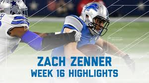 zach zenner 92 total yards 2 tds lions vs cowboys nfl week