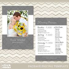 photography wedding packages photography package pricing list template wedding price list