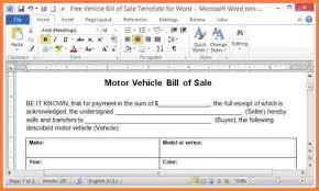 doc 679846 microsoft word bill of sale template u2013 bill of sale