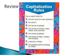 mechanics capitalization 4 grade
