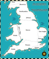 7 kingdoms map and middle ages history timelines the seven anglo saxon