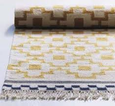 alvine ruta rug flatwoven white yellow handmade white yellow