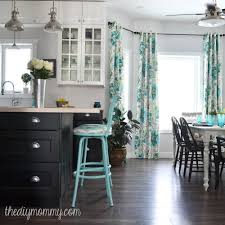 turquoise kitchen decor ideas a black white and turquoise diy kitchen design with ikea cabinets