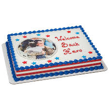 decopac photocake welcome home hero cake