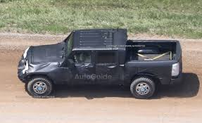 2016 jeep wrangler black bear jeep wrangler pickup spotted testing for the first time