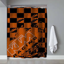 Cheap Modern Shower Curtains New Rare Ktm Racing Splash Logo Exclusive Design Shower Curtain 60