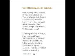 morning merry poem nursery rhymes