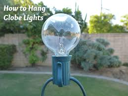 Outdoor Bulb Lights String by Clearwater Cottage How To Hang Globe Lights