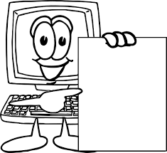 playing computer games look blank page coloring page wecoloringpage