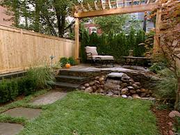 landscape design ideas for small backyards outside sitting area