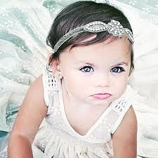 baby headwrap kids hair accessories glittery rhinestone headband baby