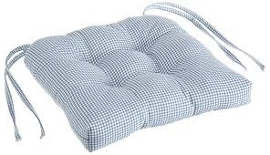 amazon com logan gingham check print cushioned chair pad blue