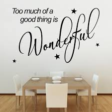 too much of a good thing is wonderful wall stickers u0026 decals
