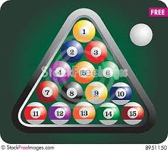 how to set up a pool table racked set of billiard balls free stock images photos 8951150