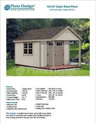 14 u0027 x 10 u0027 cabin loft backyard shed with porch blueprints