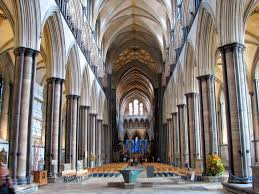 inside the salisbury cathedral salisbury england the cathedral