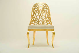 1303 gold dining chair art deco