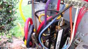 how to replace a contactor youtube