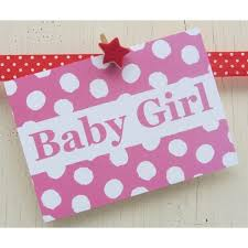 baby girl announcements baby girl announcement card dots and spots
