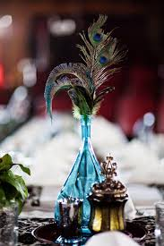 Table Decorations With Feathers Black U0026 White Rock N Roll Bride Page 3