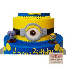 minion birthday cakes 2183 3 tier minion birthday cake abc cake shop bakery