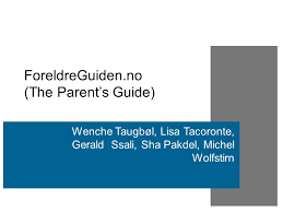 Seeking Parents Guide Foreldreguiden No The Parent S Guide Wenche Taugbøl