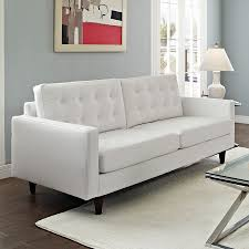 Contemporary White Leather Sofas Enfield Modern White Leather Sofa Eurway Furniture