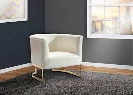 White Accent Chair White Leatherette Accent Chair Arl Ellie Accent Seating