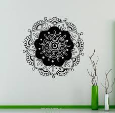 online get cheap flowers vinyl aliexpress com alibaba group mandala wall decor sticker mehndi ornament yoga namaste lotus flower vinyl decal gym office home interior
