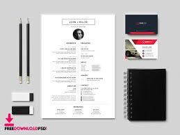 graphic designer resume template clean resume template free psd freedownloadpsd