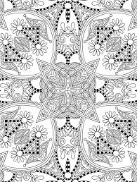 pretty geometric coloring pages for adults coloringstar