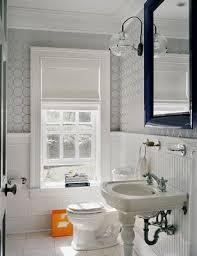 Bathrooms With Beadboard 1 Leg Pedestal Sink Contemporary Bathroom Ghislaine Vinas