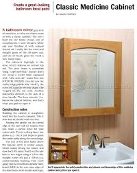 Bathroom Cabinet Plans Classic Medicine Cabinet Plans Woodarchivist