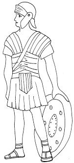 coloriage rome antique  soldat romain  Tête à modeler
