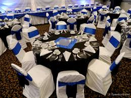 Black And White Chair Covers Damask Wedding Blue U0026 Damask A Tymeless Event Regina