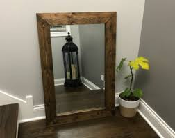 Rustic Vanity Mirrors For Bathroom by Mirror Wall Mirror Bathroom Mirror Rustic Wood Mirror Wood