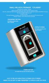 2017 new products smart home light small fingerprint lock with
