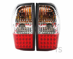 clear red led tail lamps light for mitsubishi l200 triton strada