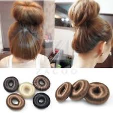 donut hair bun hot women synthetic fiber hair bun donut ring hair