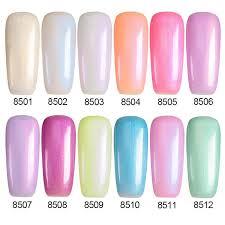 wholesale modeloens newest 7ml pearl gel polish shell color nail