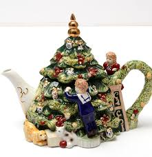 waterford holiday heirlooms porcelain teapot ebth