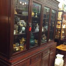 vintage drexel chinoiserie black lacquer china hutch cabinet