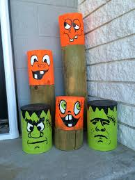 made by ann protz recycled fence poles used for halloween