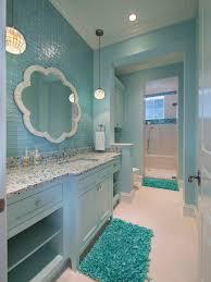 blue bathroom ideas decor bathroom with accent tile wall unique