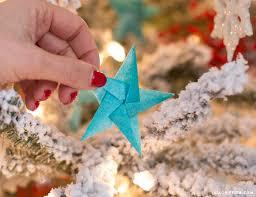 tissue star origami christmas ornaments lia griffith