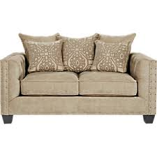 Rooms To Go Sleeper Loveseat Cindy Crawford Home Sidney Road Taupe Ottoman Ottomans Beige