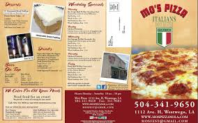 needs pizza mo s pizza menu menu for mo s pizza westwego new orleans