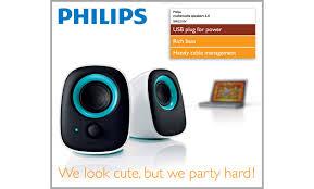 usb notebook speakers spa2210v 97 philips